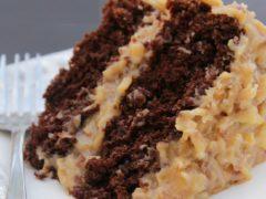 Немецкий шоколадный торт с кремом из сгущенного молока