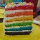 Бисквитный торт на День рождения «Радуга» со взбитыми сливками рецепт с фото