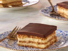 Шоколадный торт из крекеров с прослойкой из заварного крема — рецепт от Марты Стюарт