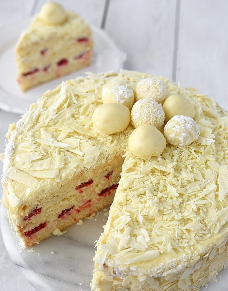 Торт трюфель с белым шоколадом