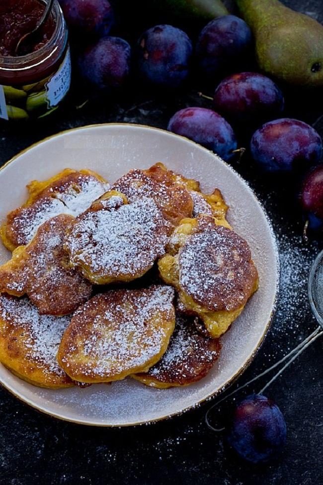 Тыквенные оладьи на дрожжевом тесте с яблоками рецепт