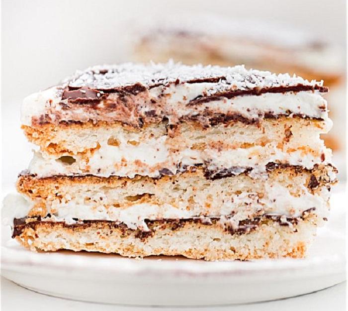 Торт Баунти рецепт с кокосовым кремом, безе и шоколадом