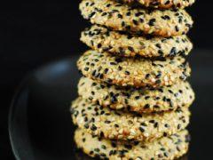 Хрустящее кунжутное печенье рецепт с фото пошагово