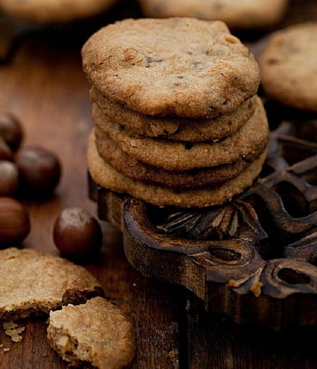 Рецепт орехового хрустящего печенья без яиц