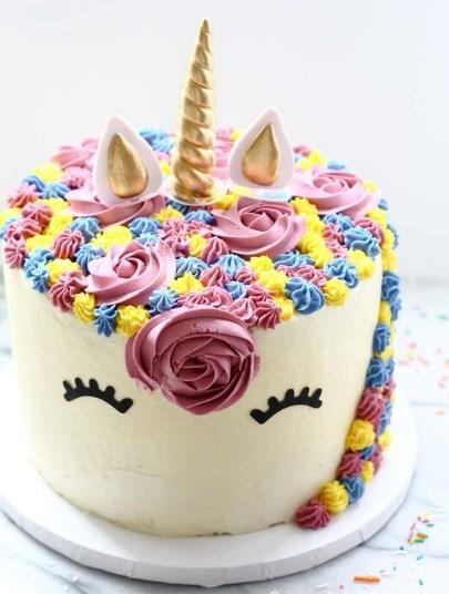 Торт Единорог с цветами без мастики на сливочном креме — рецепт с фото как сделать