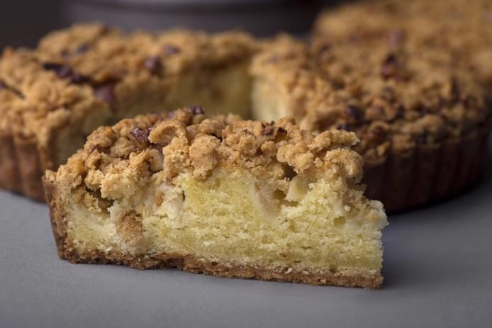 рецепт песочного пирога со штройзелем крупными песочными крошками и яблоком